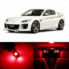 10 x Red LED Interior Lights Package For 2004 - 2011 Mazda RX-8 RX8 + PRY TOOL
