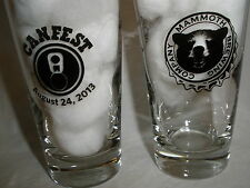 MAMMOTH BREWING CO. BEER AUGUST 24, 2013 CANFEST 6 OZ. SAMPLER GLASS (2)