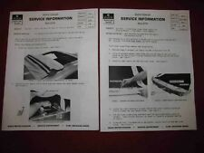 """Copy of 1972 Buick Sun Coupe """"Rag Roof"""" Service Bulletins-TWO Different!"""