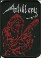 ARTILLERY-FEAR OF TOMORROW-WOVEN PATCH-THRASH METAL-SILVER GLITTER THREAD