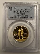 1984-W Proof Olympics $10 Gold Commemorative PCGS PR70 DCAM