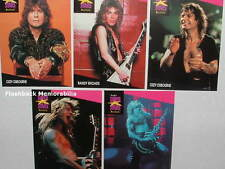 5 Pc. OZZY OSBOURNE PRO SET Music Cards MINT 1st Edition RANDY RHOADS Zack Wylde
