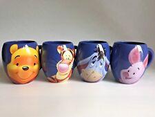 Disney Set of 4 Large Tams Barrel Mugs Winnie the Pooh Tigger Eeyore  Piglet