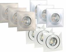 LED Einbauleuchte Einbaustrahler Deckenleuchte Spot 4W P44 3er Set Warmweiß