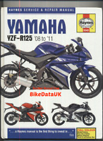 Yamaha YZF-R125 (08-11) Haynes Manual Service & Repair Book YZF-R 125 YZFR CE70
