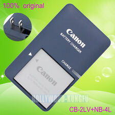 Genuine Canon CB-2LV Charger + NB-4L battery For PowerShot SD1000 SD1100 SD400