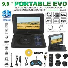 9.8In Portable TV DVD CD Player 270° Rotation LCD USB SD FM Radio Remote Control