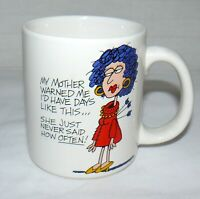"American Greetings 8 oz. Stoneware ""My Mother Warned Me"" Mug Cup"
