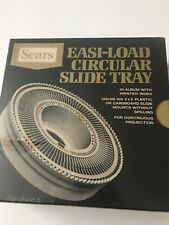 Sears Vintage Easi-Load Circular Slide Tray Carousel Holds 100 2x2 Slides NOS
