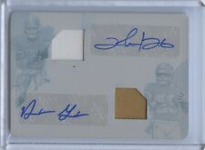 2018 XR Clinton Portis Derrius Guice Printing Plate Patch Auto 1/1 Rookie