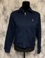 Ralph Lauren Sport Size M Full Zip Dark Blue Athletic Sweatshirt Jacket