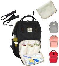 Wickeltasche Babytasche Wickelrucksack Rucksack Pflegestasche mit 2x Haken