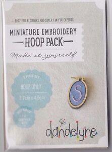 SALE -Miniature Embroidery Hoop Pack G - Single Vertical Oval Hoop - 27 x 45 mm