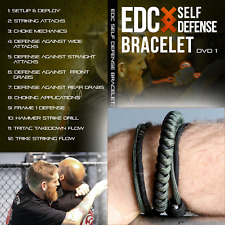 EDC Self Defense Bracelet Everyday Carry Survival Weapon & Instructional EDC DVD