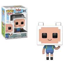 Adventure Time / Minecraft Pop Television Vinyl Figure Finn 9 Cm Funko Mini