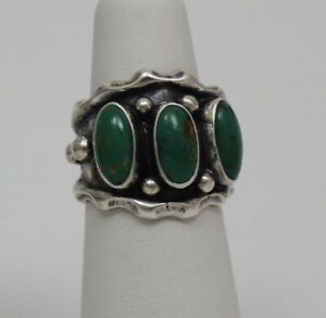 Navajo Indian Ring 50% Off Size 6  Kingman Turquoise Sterling Andrew Vandever