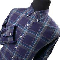 Ralph Lauren Blake Blue Green Plaid Pony Long Sleeve Button Up Shirt - Mens XL