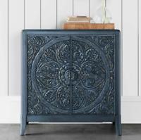 Vintage Storage Cabinet 2 Door Shelf Cupboard Wooden Accent Sideboard Small Unit