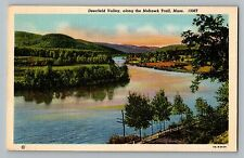 Mohawk Trail Massachusetts Ma Deerfield Valley View Curt Teich Postcard 1937