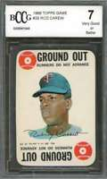 Rod Carew Card 1968 Topps Game #29 Minnesota Twins BGS BCCG 7