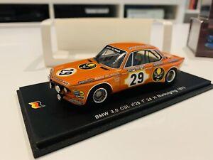 1/43 Spark BMW 3.0 CSL Winner 24Hrs Nurburgring 1973 Jagermeister