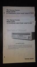 harman kardon cd191 service manual supplement stereo tape player original 2 book