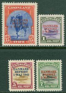 EDW1949SELL : GREENLAND 1945 Scott #19-21, 23 All VF, Mint OG LH. Catalog