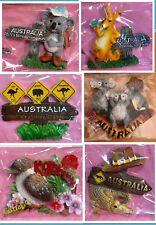 6x Aus Collection Souvenir 3D Kangaroo Koala Crocodile Rd Sign Fridge Magnet