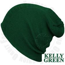 Plain Beanie Knit Hat Mens Women's Winter Warm Cap Slouchy Solid Skull Hat Cuff