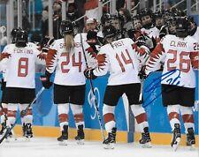 Autographed Emily Clark Team Canada 2018 Olympics Womens Hockey 8x10 Photo #2