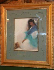 "Ozz Franca ""Blue Tranquility"" Print Beautifully Framed No COA AS IS"