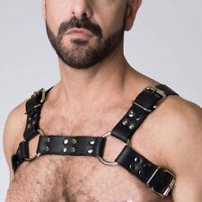 Men's PU Leather Restrain Chest Strap Harness Clubwear Costume Gay Fancy Dress