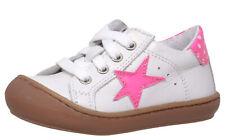 Lauflernschuhe Dianetti 9841 Italien Leder Weiß Stern Pink Gr. 20 - 24 Neu