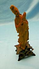 figurine asiatique geisha en resine bois
