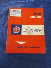 1961 Buick Special Service Shop Manual Original