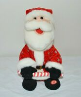 Santa Claus Dillards Dancing Singing Stuffed Christmas Novelty Toy Works