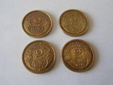 France 4 pièces Morlon de 2 Francs 1932 + 1937 + 1938 + 1941