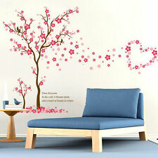 Plum Tree Wall Stickers Dining Room Mural Home Decor Wallpaper Mural Removable B
