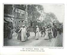 1910 An Egyptian Bridal Car, Taking Bride To New Home