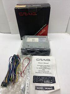 Vintage Craig DR 3642 Car Stero Cassette Player Detachable Front Panel Din