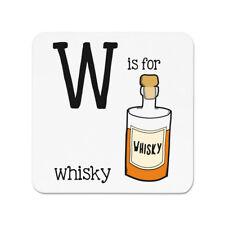 Buchstabe W is für Whiskey Kühlschrankmagnet - Whiskey Scotch lustig