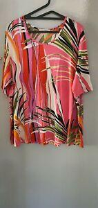Doris Streich Tunic Top Size 20 BOHO/HIPPIE Multicoloured