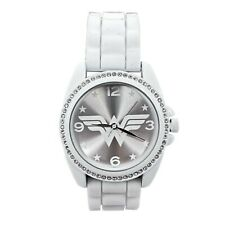 Wonder Woman Symbol Silver Watch with Rubber Band Silver