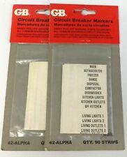 GB Circuit Breaker Markers - 180 Strips