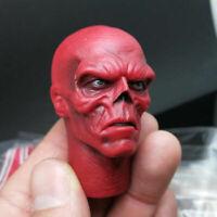 "1/6 Captain America Johann Shmidt Red Skull Head Sculpt F 12"" Action Figure Body"