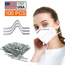 Aluminum Metal Nose Bridge Strip Wire For DIY Mask Bracket Sewing Craft 100 PCS
