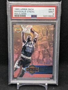 1993 Upper Deck Basketball Shaquille O'Neal Holojam 2nd YR Card #H19 PSA 9 Mint