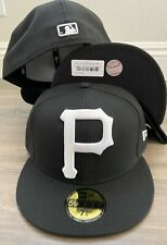 New Era Cap hat Pittsburgh Pirates Black WHITE P XXL logo fitted 59fifty 5950