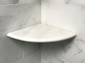 "Premium 2CM X 9"" White Carrara Marble Shower Corner Shelf Caddy"