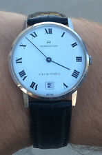 Very Rare Hamilton Intra-matic 30j Automatic Intramatic Roman Dial Watch - CLEAN